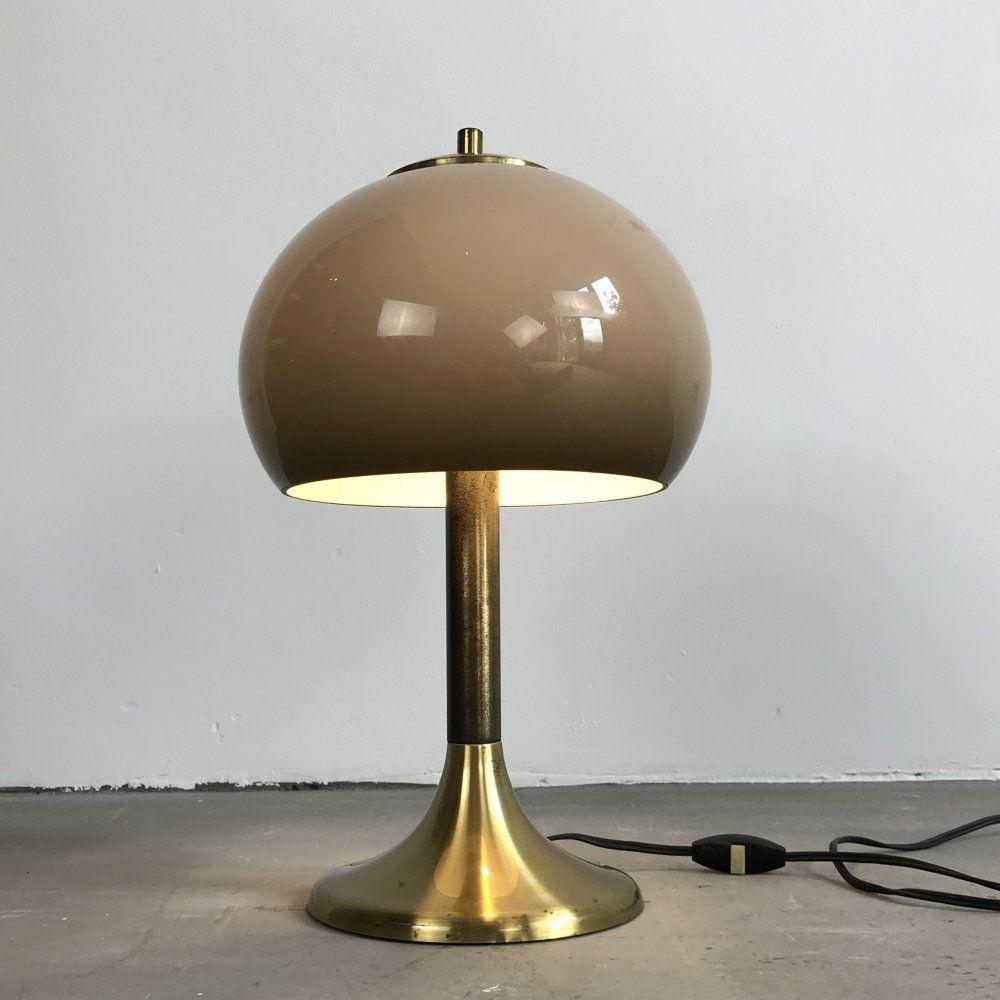 For Sale Brass Herda Mushroom Table Lamp Amsterdam 1960s Table Lamp Lamp Table
