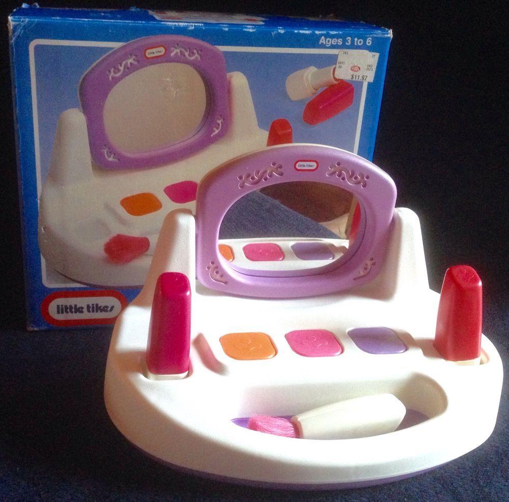 best website ec488 b6077 Vintage Little Tikes Vanity Beauty Salon MAKEUP SET Lipstick ...