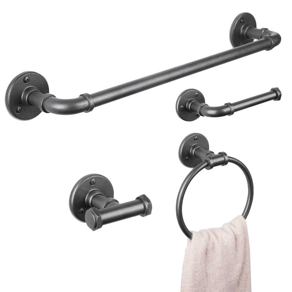 Accessoires muraux pour salle de bain « Piper » - Métal ...