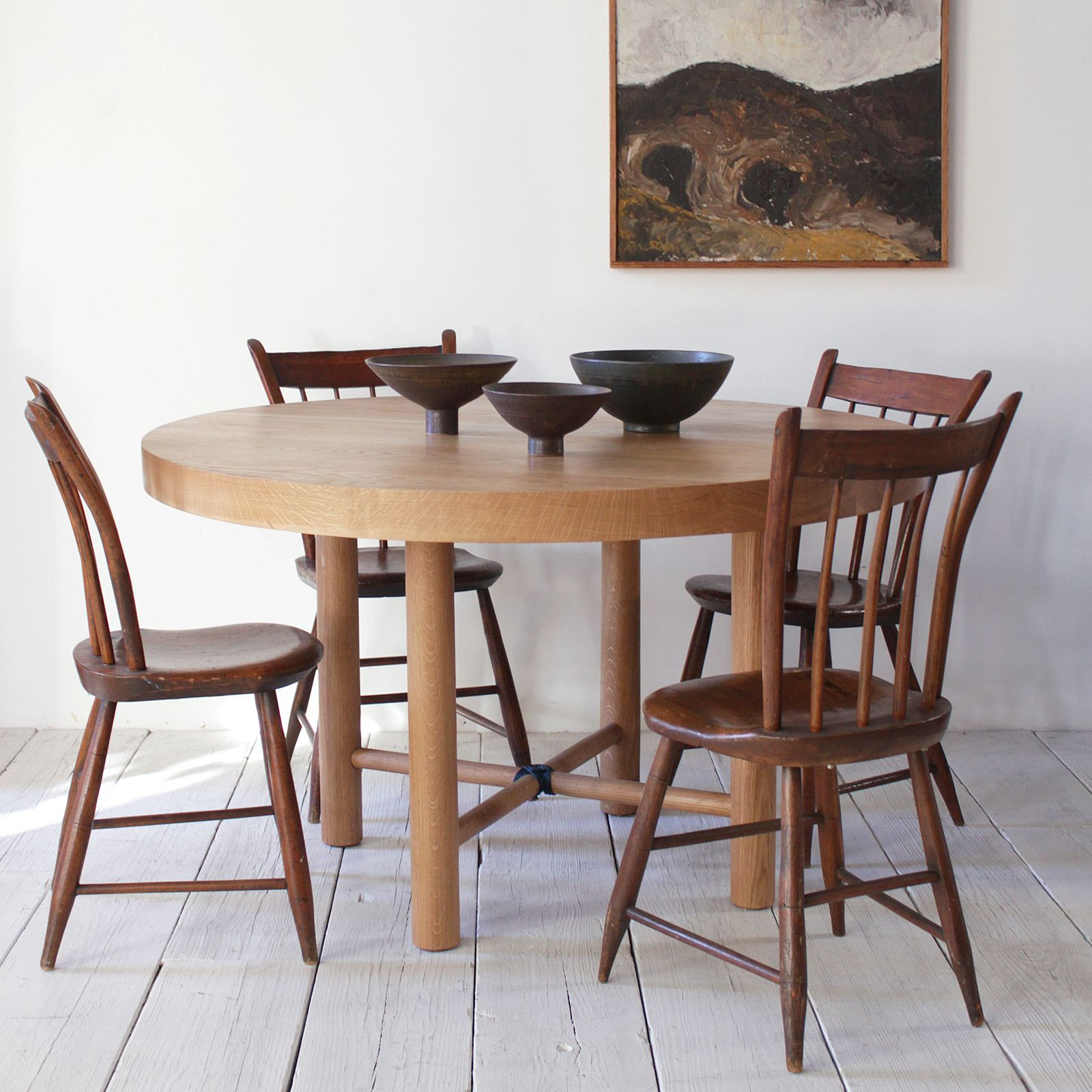 nickey kehoe's latest dining table is the nk 50 round dining table