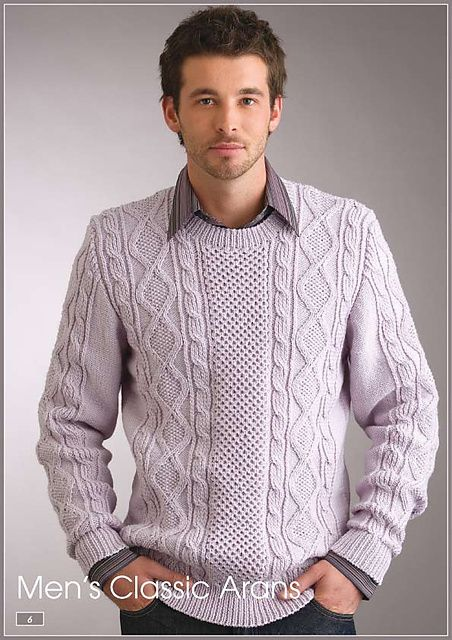 74ef510cfc1899 Ravelry  Men s Aran Sweater pattern by Patons Australia