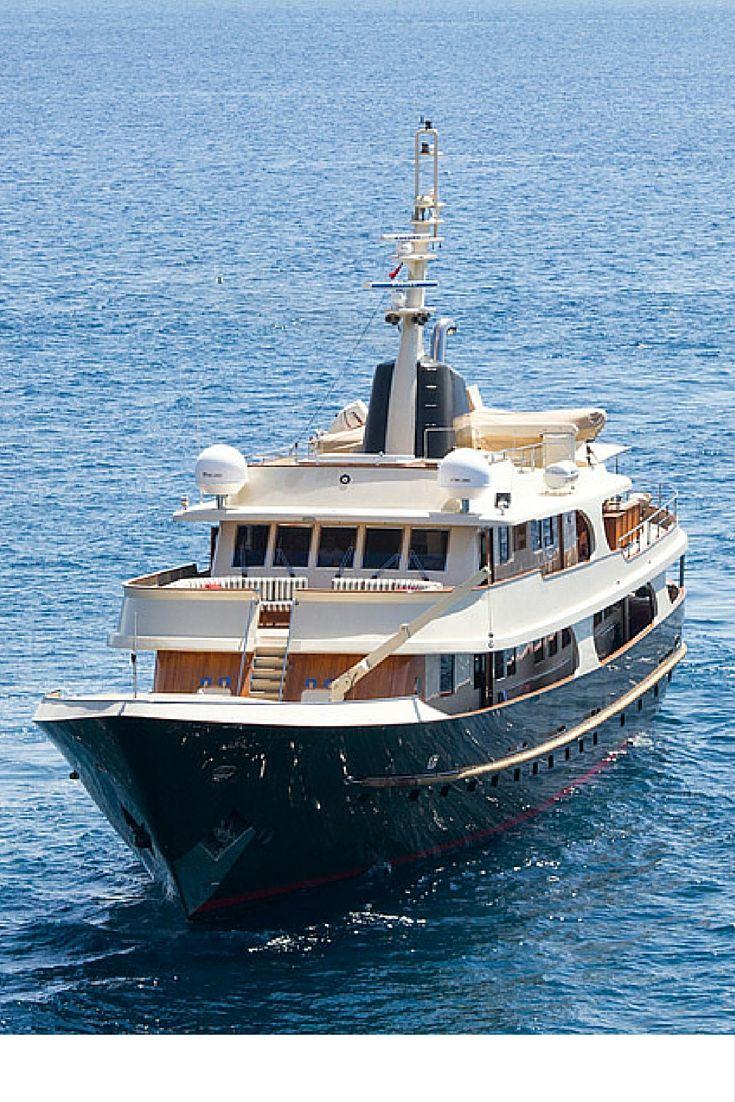 Meserret This Elegant Canoe Stern Steel Motor Yacht Is A Classic