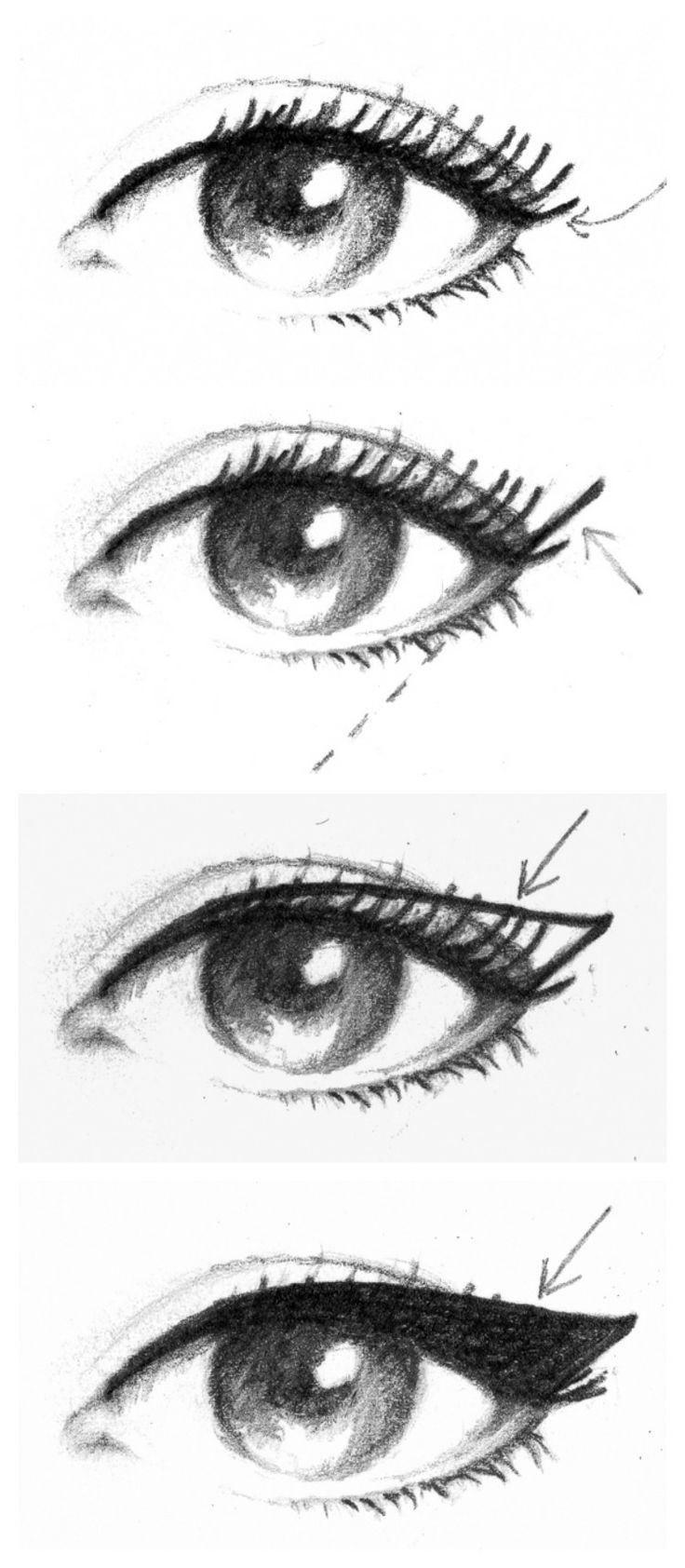 как сделать кошачий глаз макияж