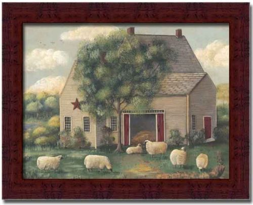 Woolly Sheep Country Fine Art Print Framed Picture