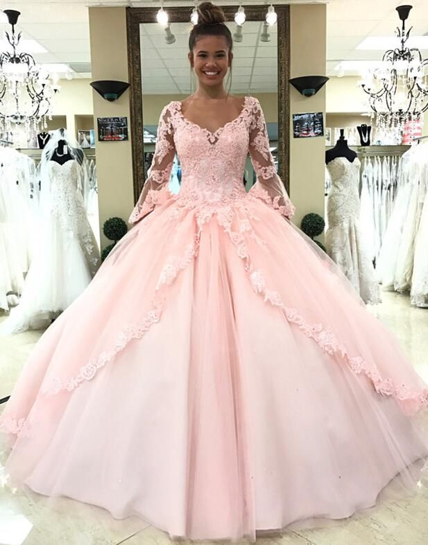 e67783f5be0 Pink Quinceanera Dress