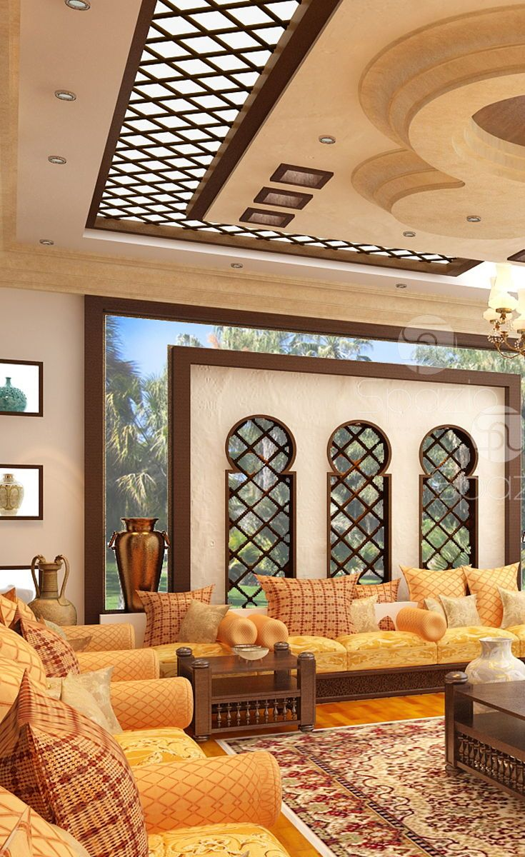 Home Decor Interior Design: Luxury Arabic Majlis Interior Design In Dubai And