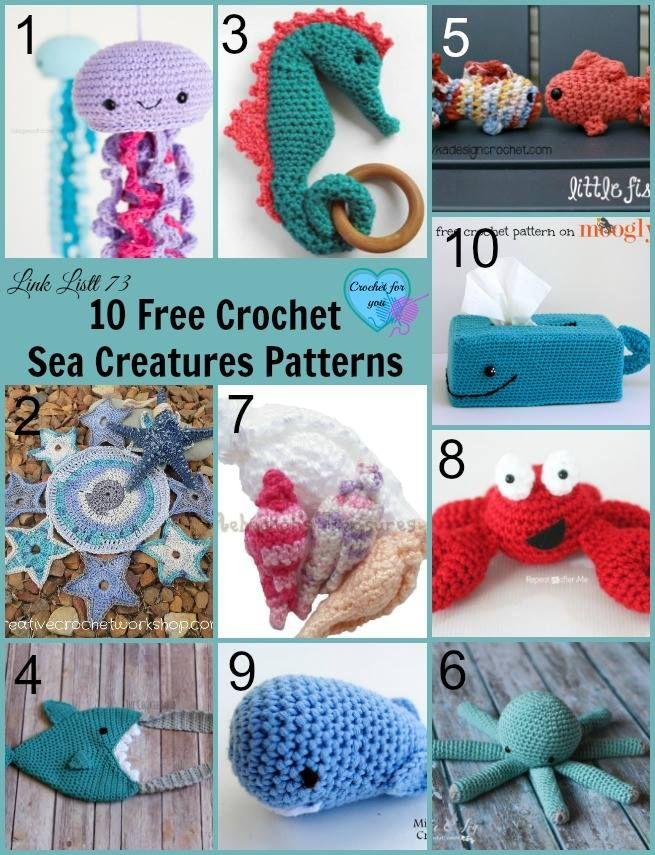 http://www.crochetforyoublog.com/2017/05/10-free-crochet-sea ...