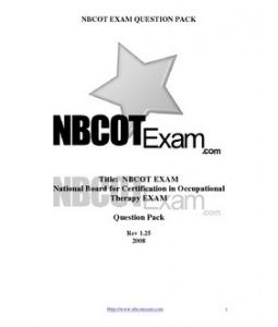 Some Questions For The Nbcot Idk How Good They Are Tho But It