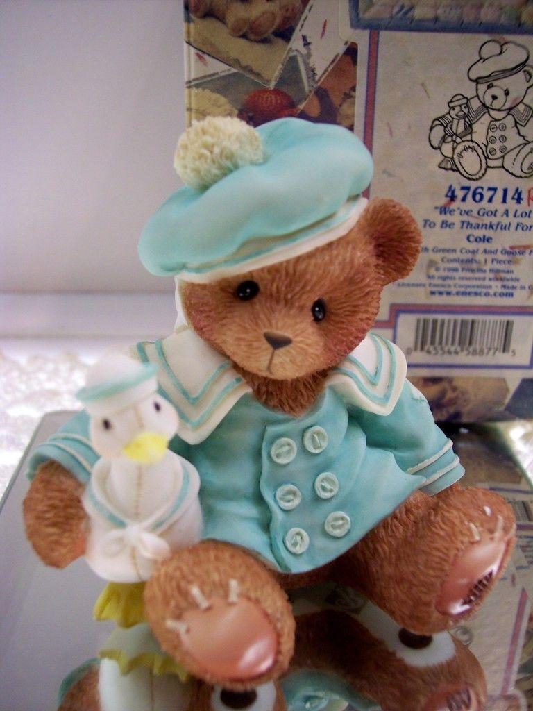 Cherished Teddies COLE RARE BEAR 476714 *HTF* NIB ** FREE USA SHIPPNG | eBay