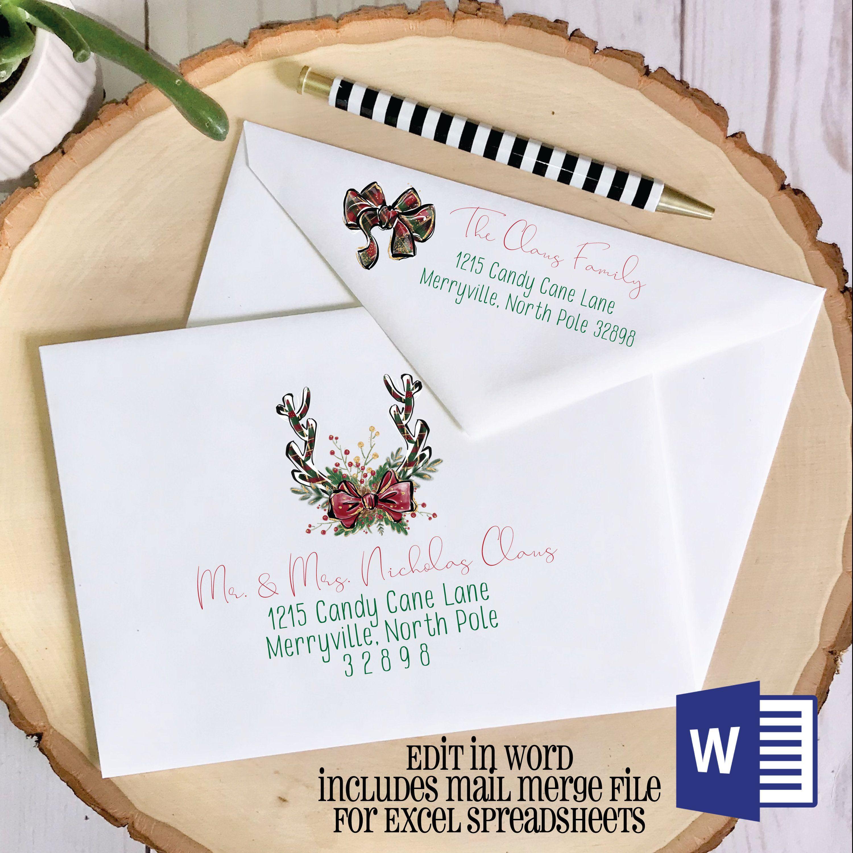Christmas Envelope Template Envelope Etsy Christmas Envelope Template Envelope Template Christmas Envelopes