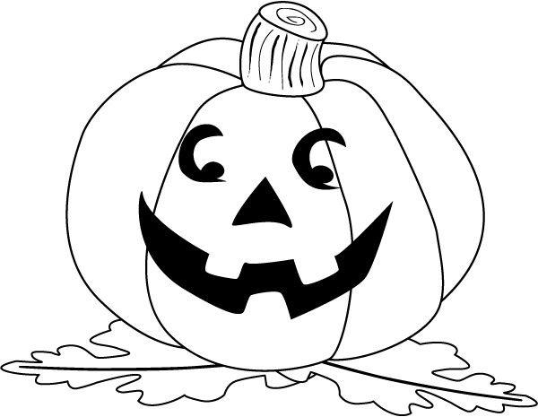 Grande Zucca Di Halloween Che Sorride Stampa E Colora Il Disegno