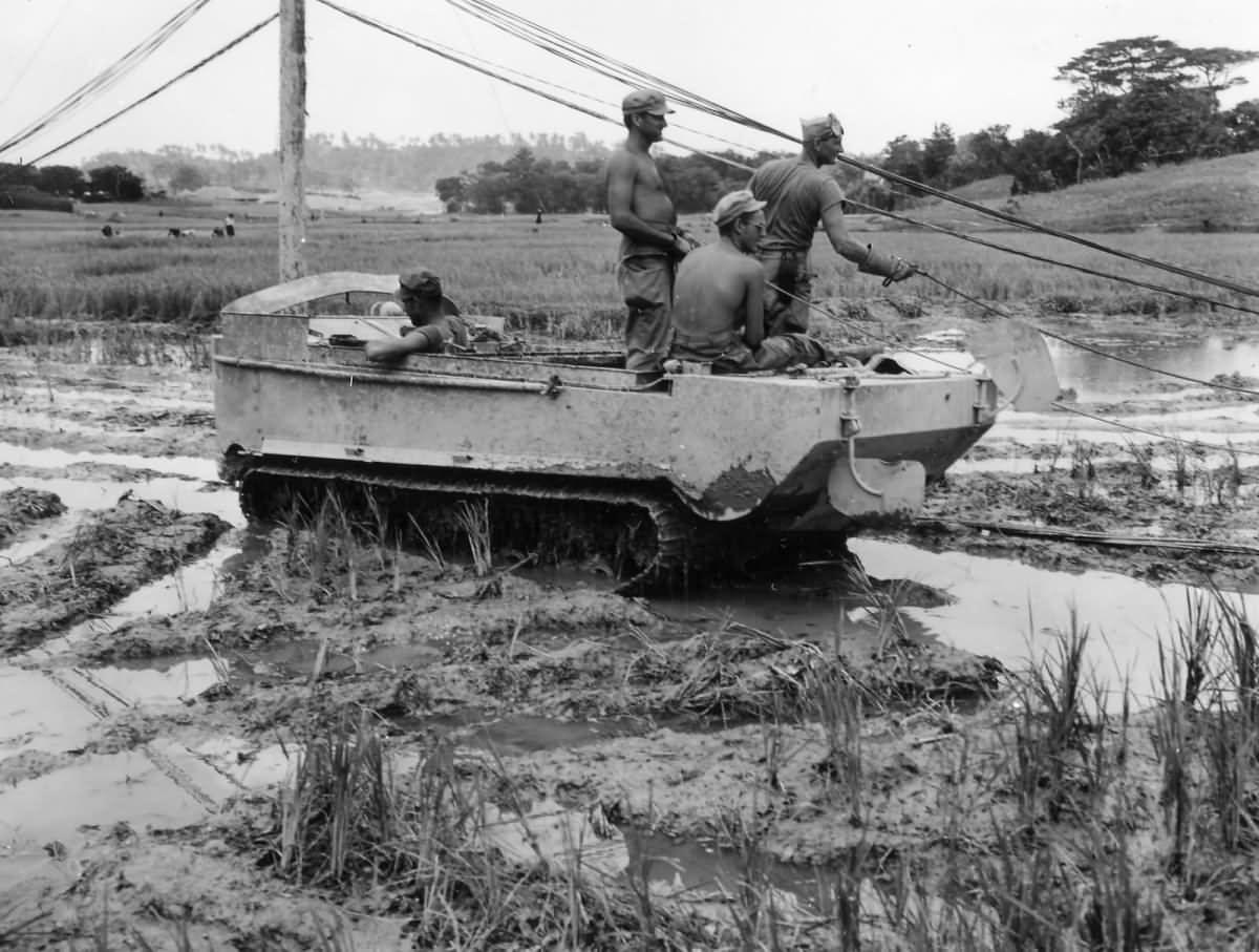 M29 Weasel on Okinawa 1945