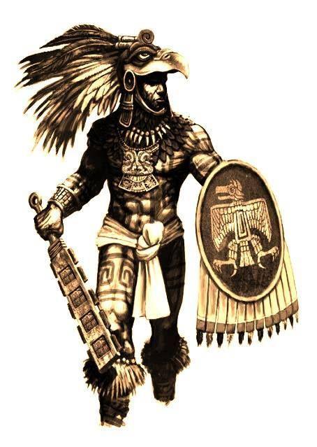 Azteca Warrior Guerrero Azteca Aztecas Aztecas Dibujos