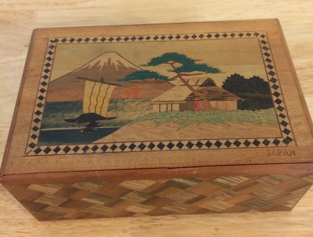 Vintage Japan Mt Fuji Puzzle Box Collectible Gift Vintage Japan