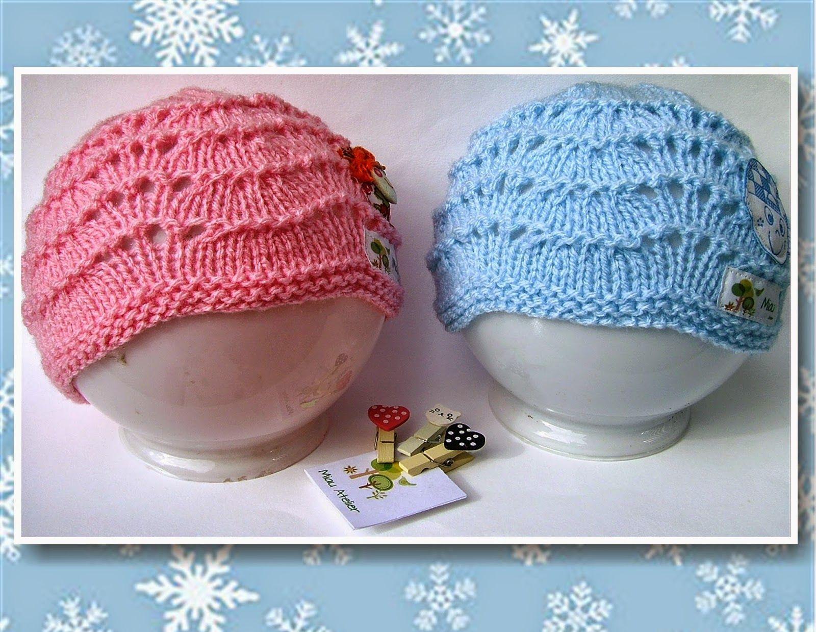 Miau Atelier  Workshop  Touca fácil para bebê em tricô  6a5b6909885