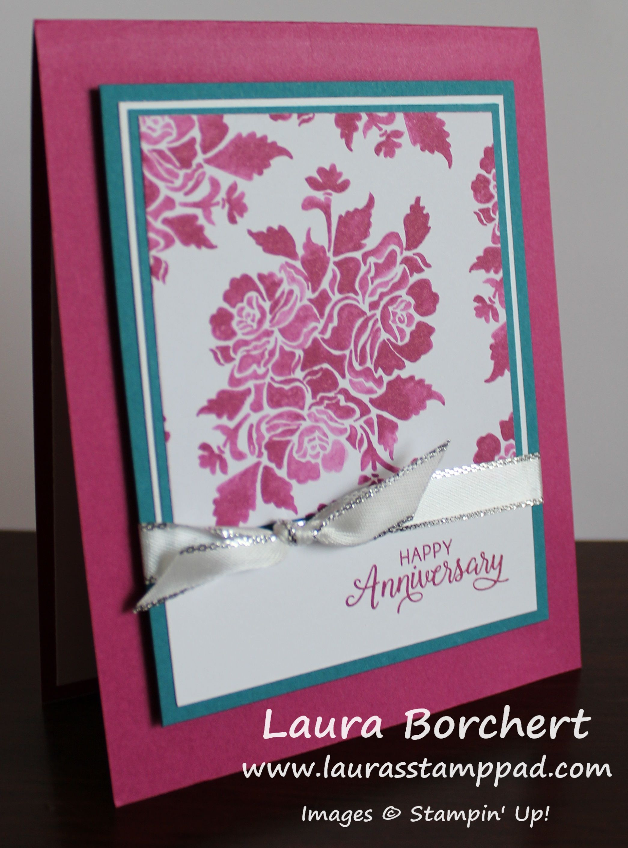 Fresh Florals One Sheet Wonder Www Laurasstamppad Com Card Making
