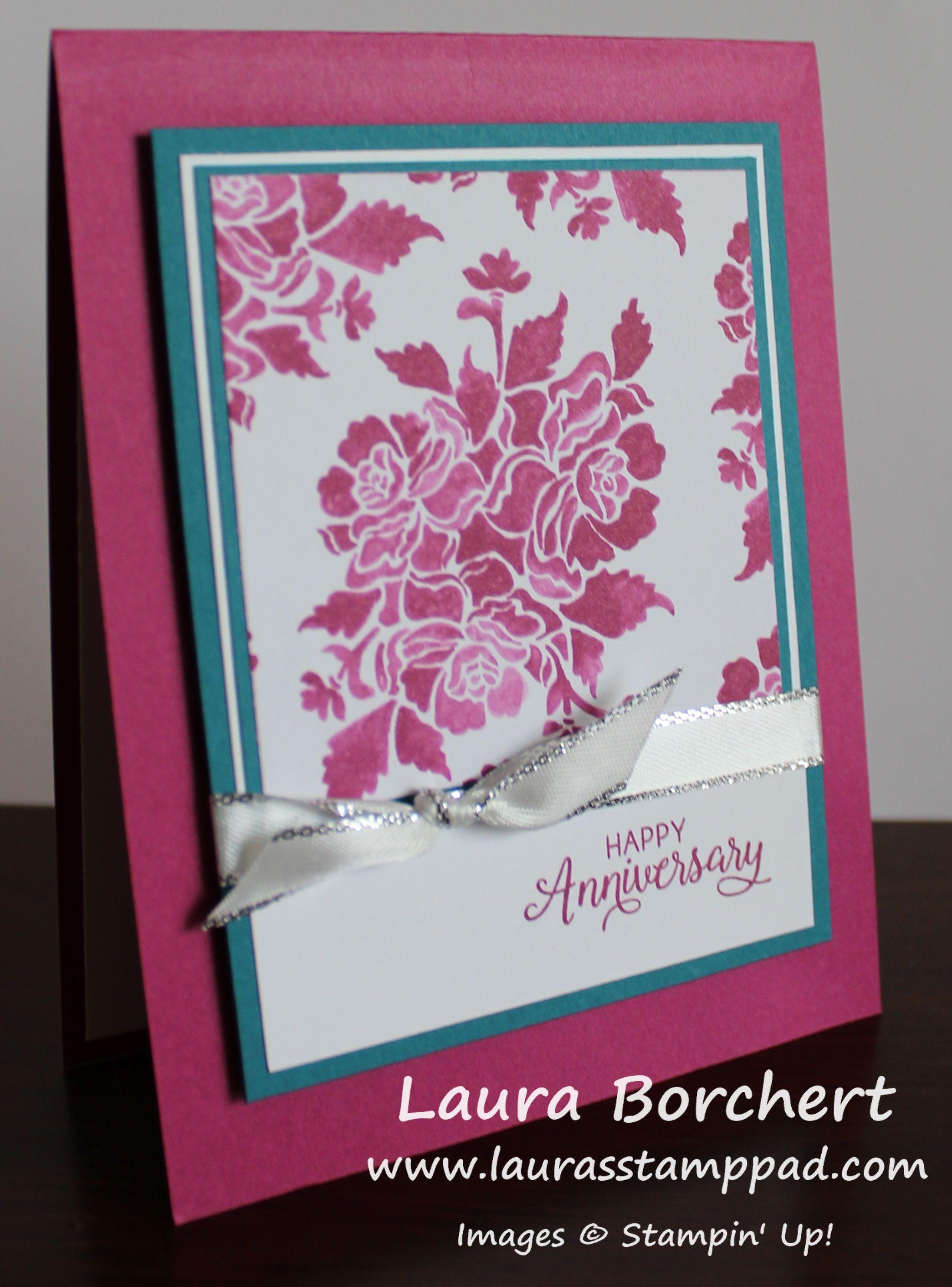 Fresh Florals One Sheet Wonder Www Laurasstamppad Com Card Making