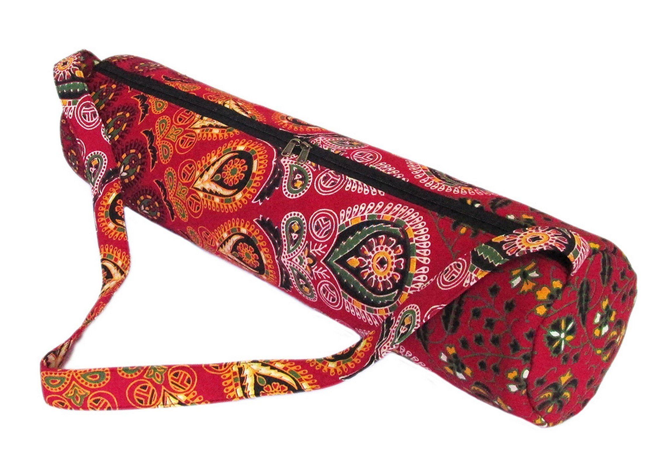 Indian Mandala Yoga Mat Bag Handmade Carry Beach Bags Cotton Etsy Yoga Mat Bag Yoga Bag Mat Bag