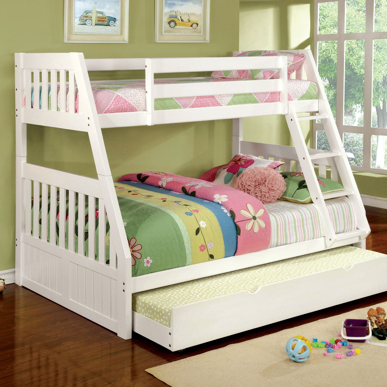 Bedroom Perfect Twin Over Full Wood Bunk Bed Good On Verona White
