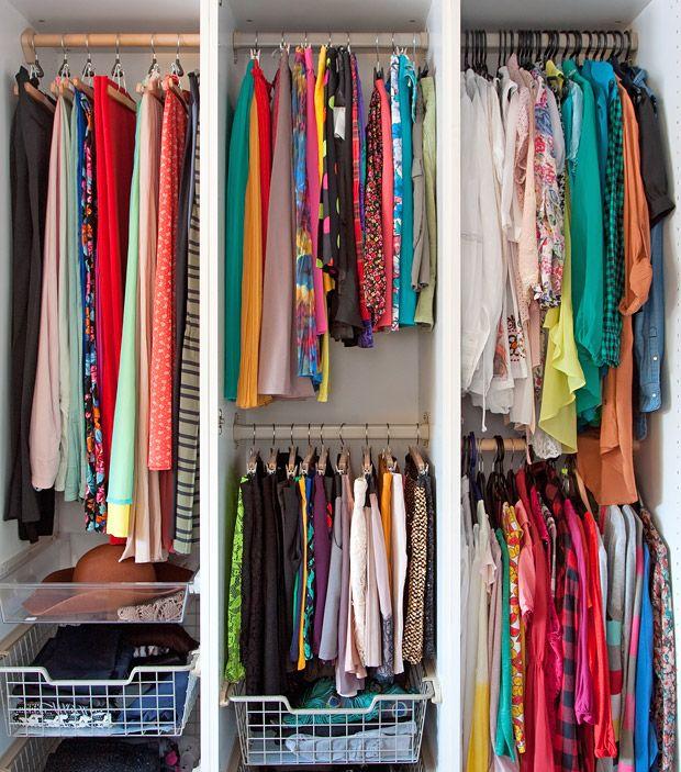 Kleiderschrank aufräumen - Hosen, Maxiröcke, Mützen, Leggings und ...