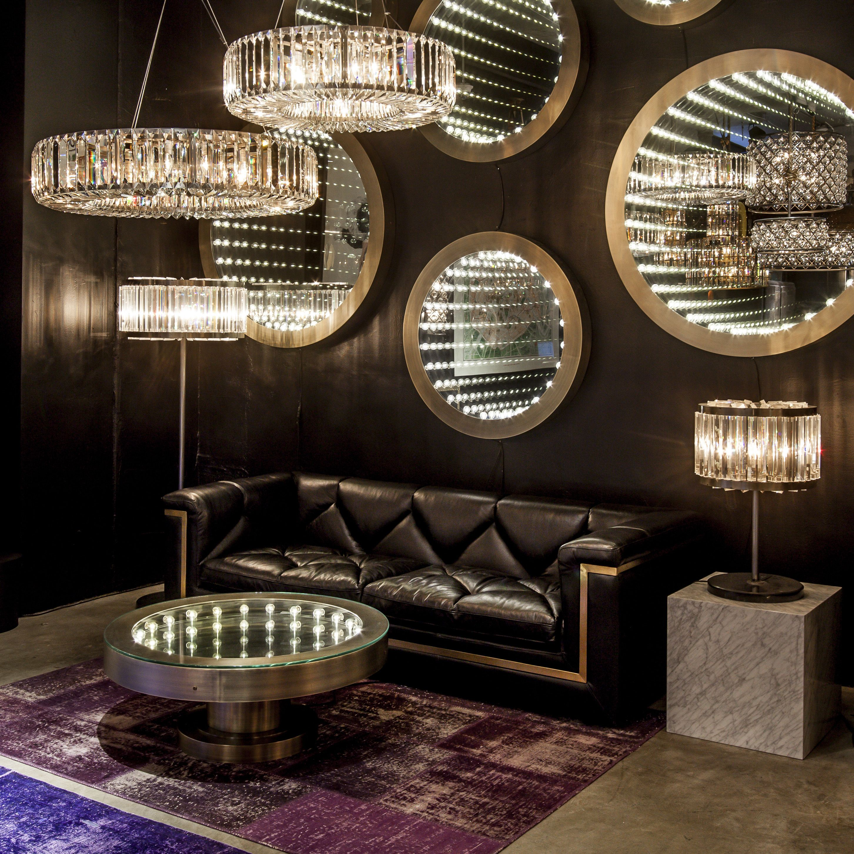 Recapturing The Romance Of Light Inception Coffee Table And Mirror Collection Excites Eye Embracing A Touch Theatrics