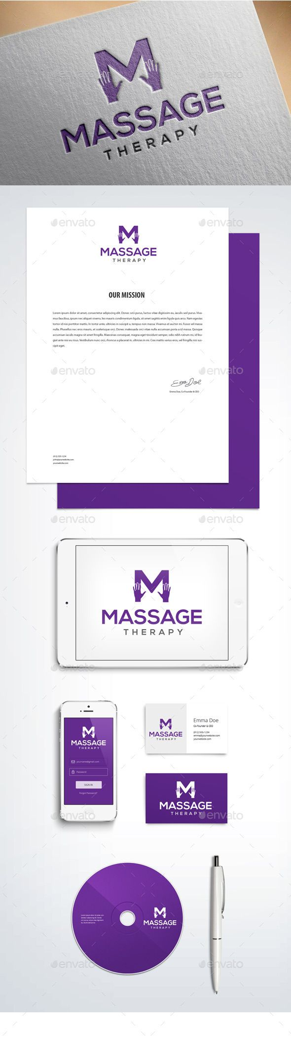 Massage and Physical Therapy Logo Графический дизайн
