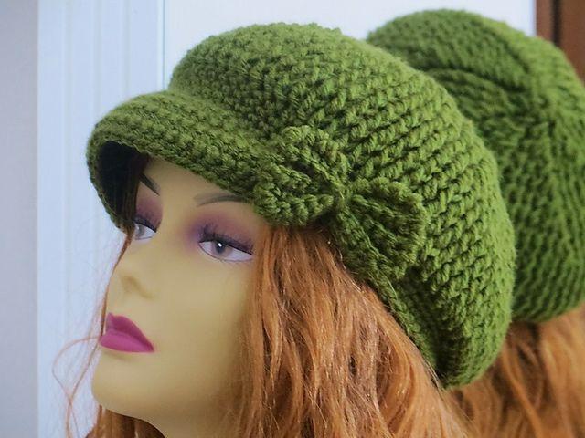 Taylor Newsboy Hat pattern by CrochetDreamz | Gorros y Tejido