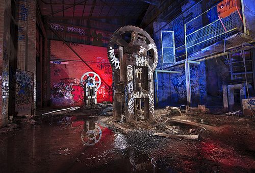 IMG_1412 - Light Painting: Disused Boxhill Brickworks Factory