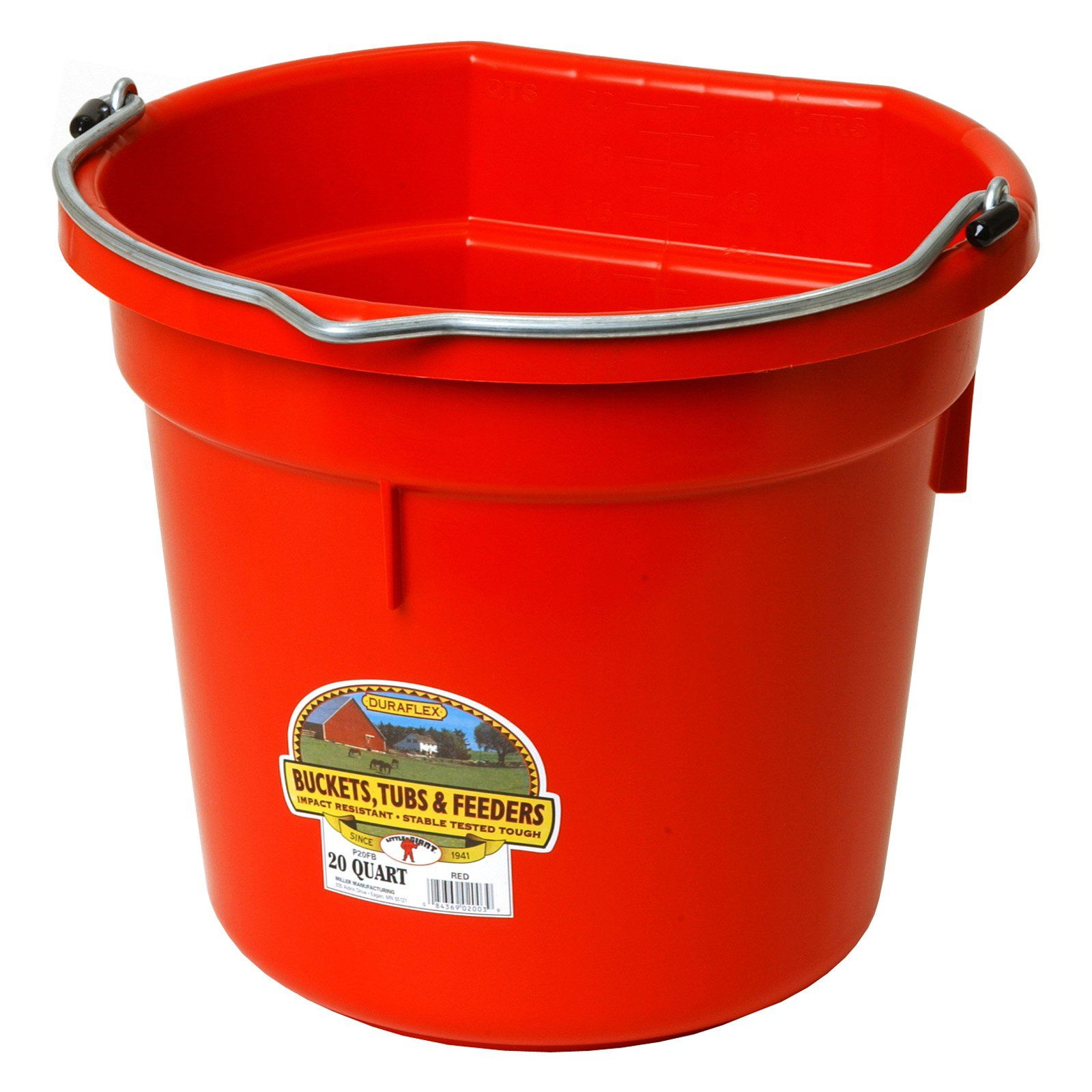 Miller Manufacturing Flat Plastic Bucket In 2020 Plastic Buckets Bucket Little Giants