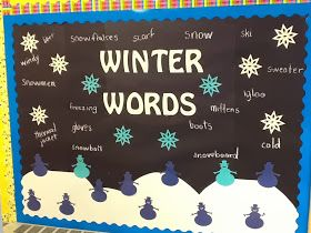"""WINTER WORDS      Every year my students look forward to listing all the """"Winter Words"""" a bulletin board can hold."""