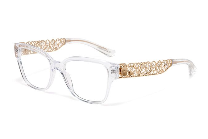 womens crystal acetate filigree glasses with squared frame by dolce gabbana dg 3186