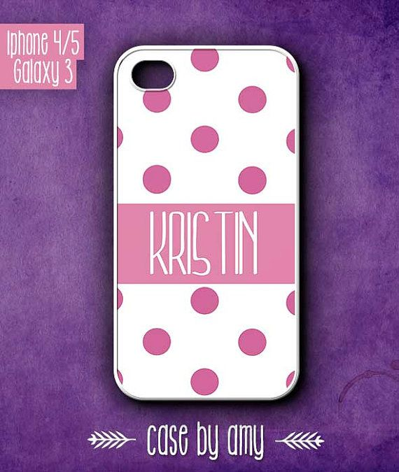 iPhone accessories Personalized phone cover case for iPhone 4/4s, iPhone 5, Samsung Galaxy S3 - $16.80  at http://casebyamy.etsy.com
