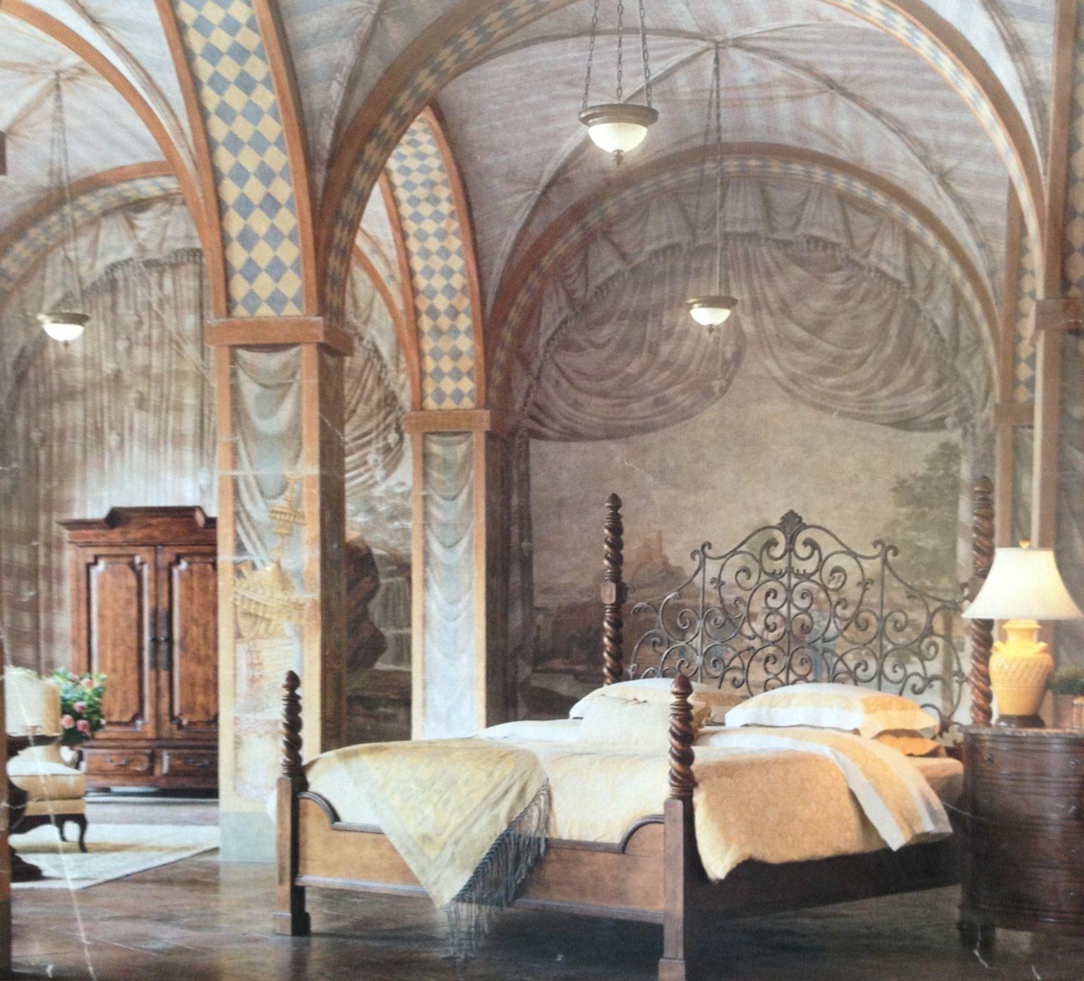 tuscany ways to decorate bedroom | Beautiful Tuscan bedroom. | Tuscan bedroom, Tuscan ...