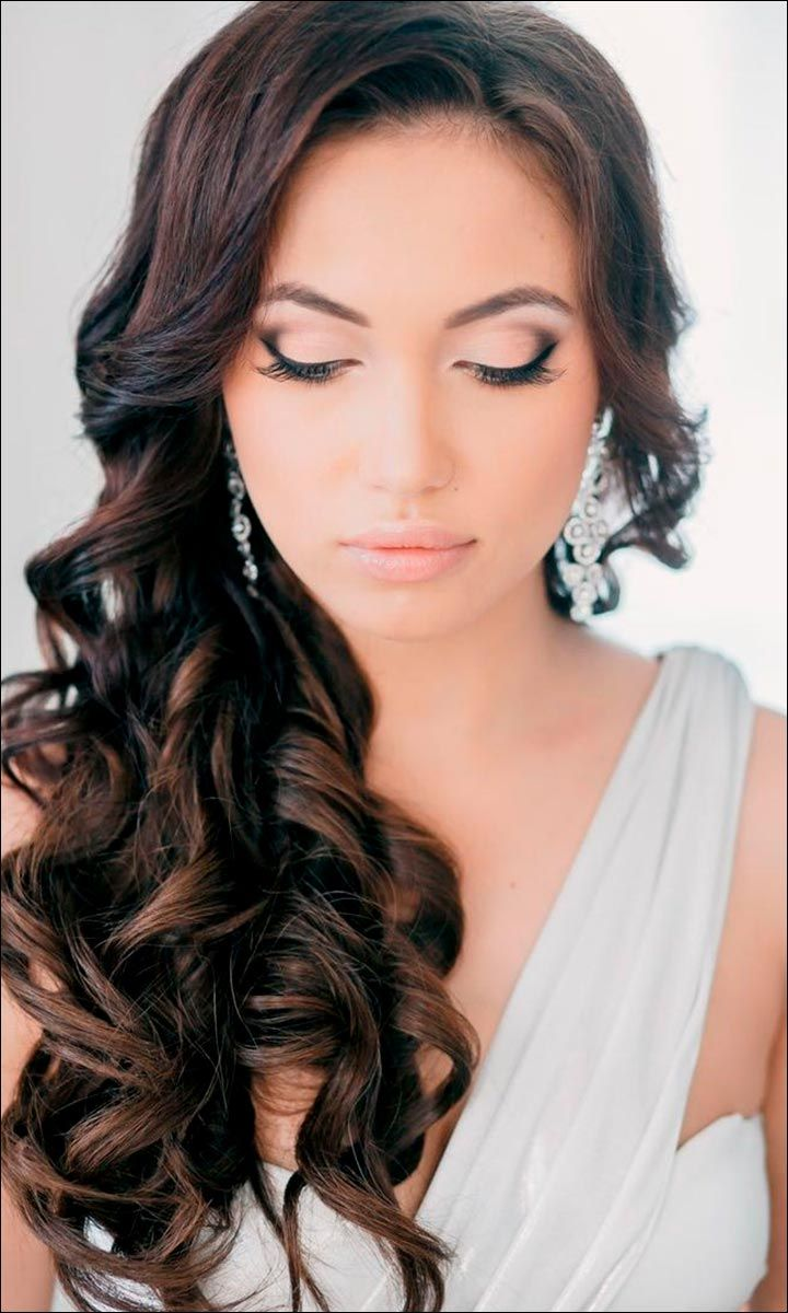Bridal Hairstyles For Medium Hair: 32 Looks Trending This Season | Wedding makeup for brown eyes ...