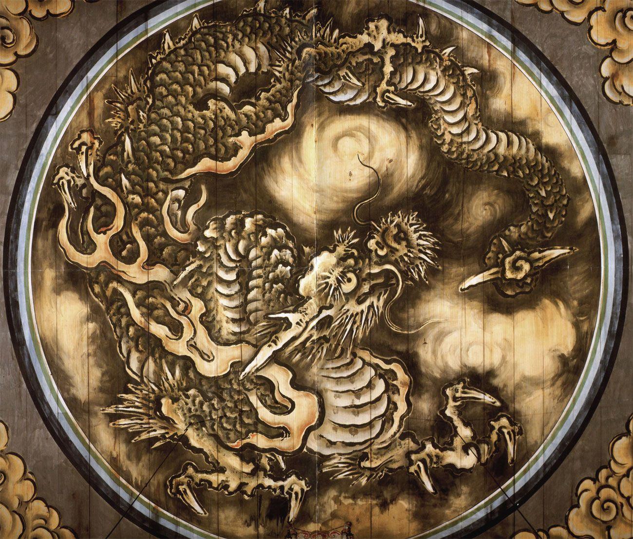 雲龍図 狩野 探幽(かのう たんゆう、慶長7年1月14日(1602年3月7日 ...