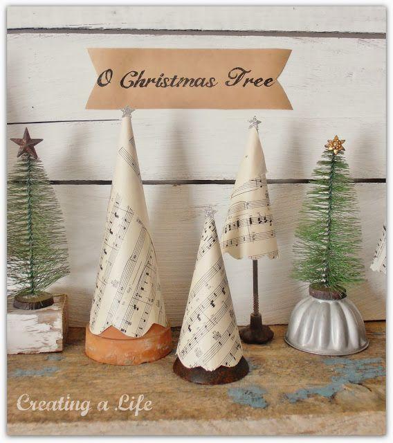 Junk Style Christmas-trees-creatingalifenow