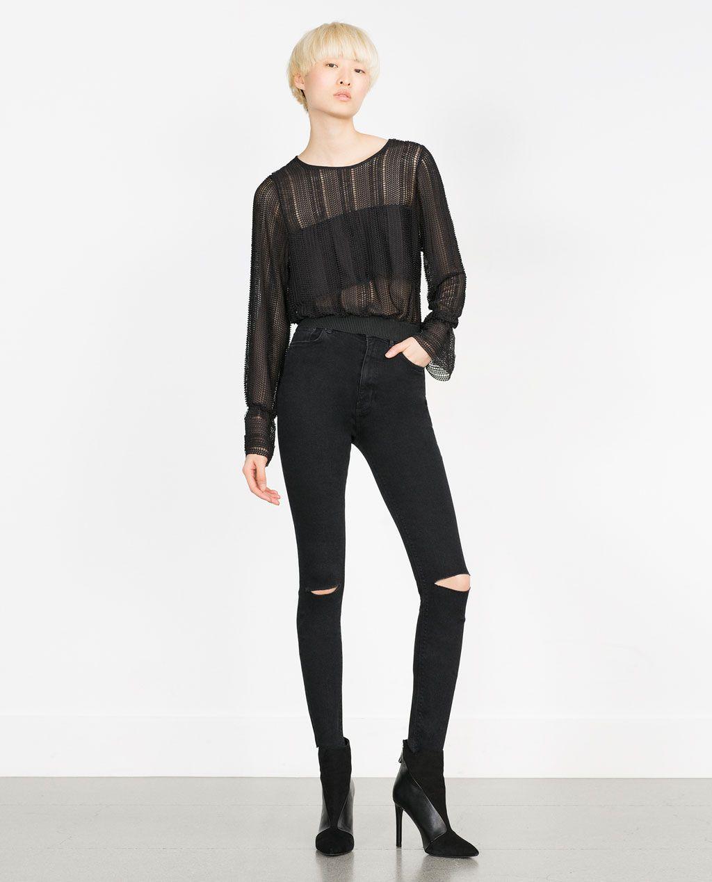 2904b97a Super High Waisted Jeans Zara
