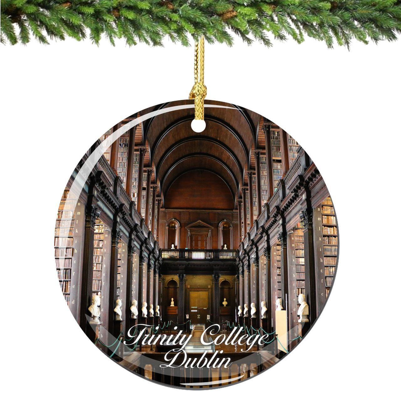 Trinity College Library Dublin Christmas Ornament
