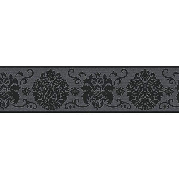Fdb07502s Black Campbell Peel And Stick Border By Fine Decor Wallpaper Border Peel And Stick Wallpaper Wall Borders