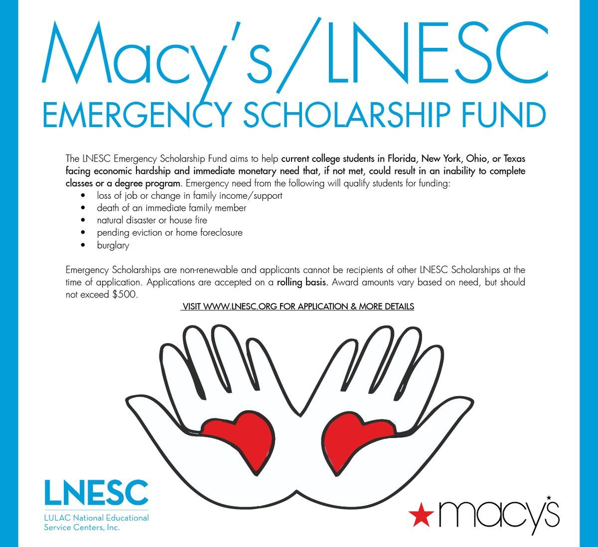 A 500 Emergency Scholarship Fund For Any College Student Who