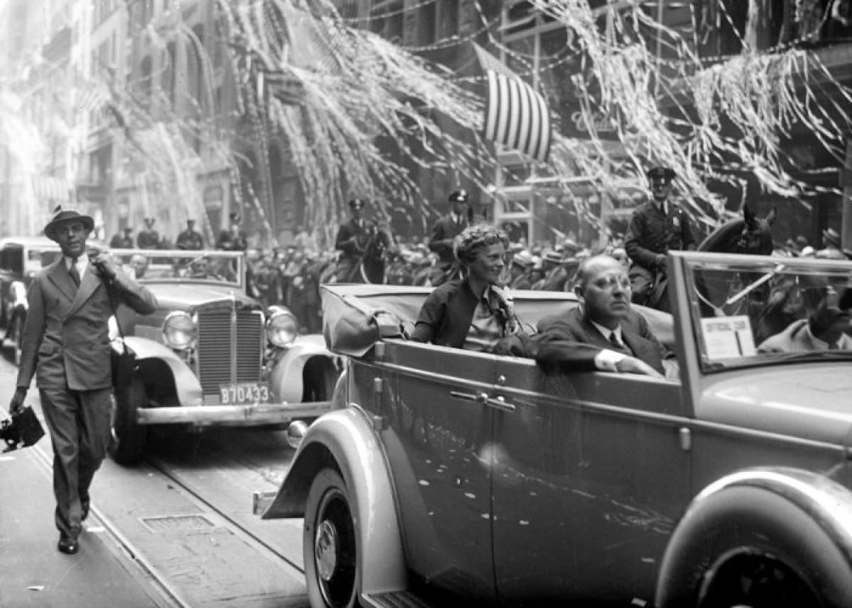 Image result for amelia earhart parade