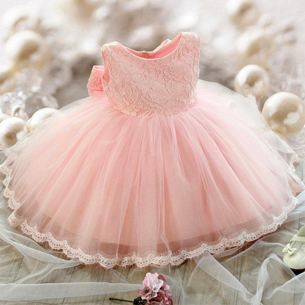 Baby dresses for wedding  SZYL Baby Girls Lace Baptism Flower Dress Wedding Pegeant Tutu