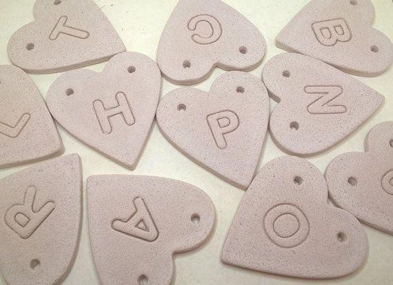Impresso il cuore della lettera ornamento del cuore di prettysimps
