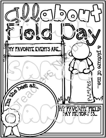 All About Field Day Poster Activity Fill In Amp Color Me Poster