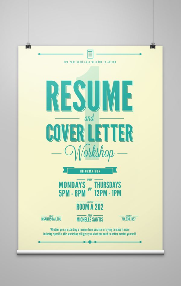 Workshop Event Posters on Behance | Event poster, Poster ...