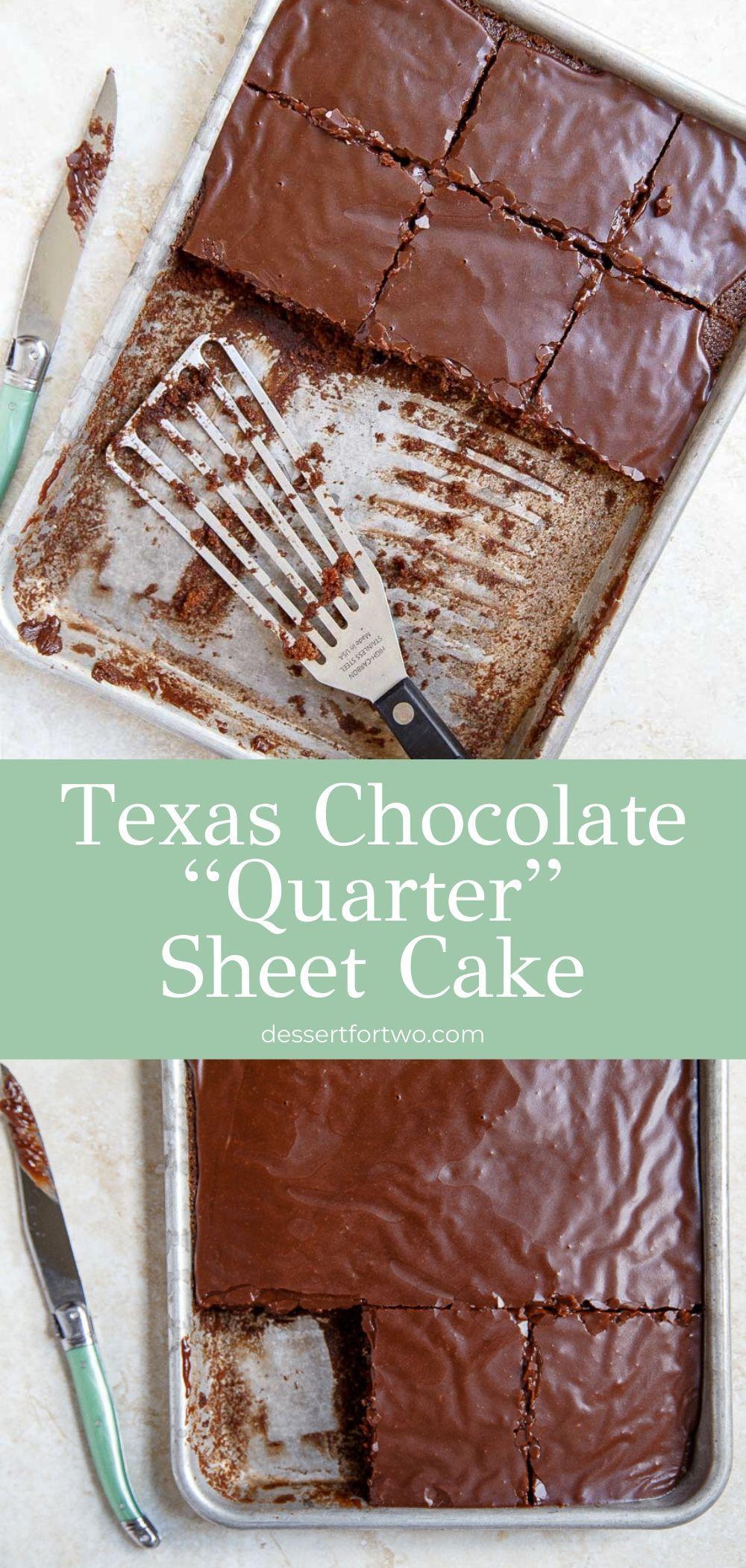 Quarter Sheet Cake - Texas Chocolate Sheet Cake