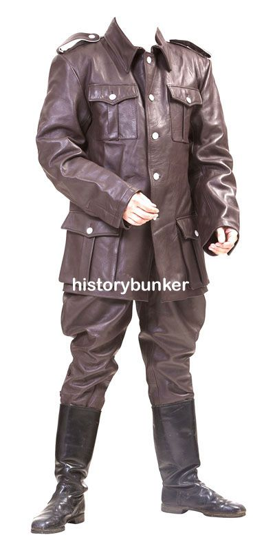 9626b7cf1 WW2 German style BROWN M36 leather tunic and breeches - ww2 german ...