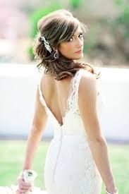 Wedding Hair For Backless Dress Google Search Wedding Hair Side Bride Hairstyles Backless Lace Wedding Dress
