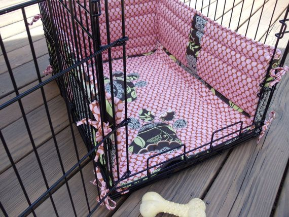 how to make dog crate bumper pads