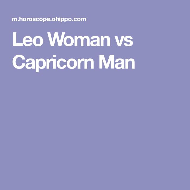 Capricorn male leo female